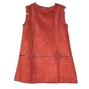Mayoral Girl Boho Burnt Orange Dress
